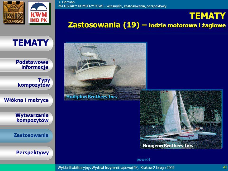 TEMATY Zastosowania (19) – łodzie motorowe i żaglowe