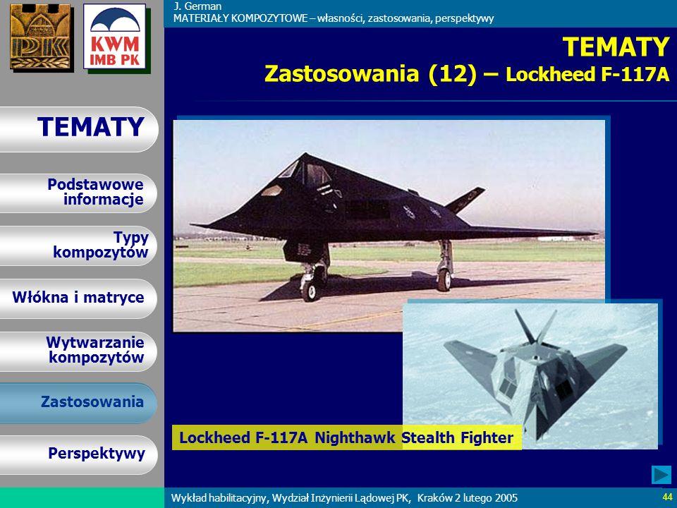 TEMATY Zastosowania (12) – Lockheed F-117A