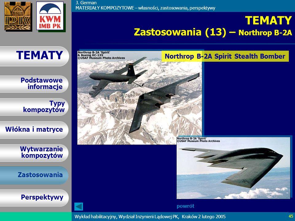 TEMATY Zastosowania (13) – Northrop B-2A