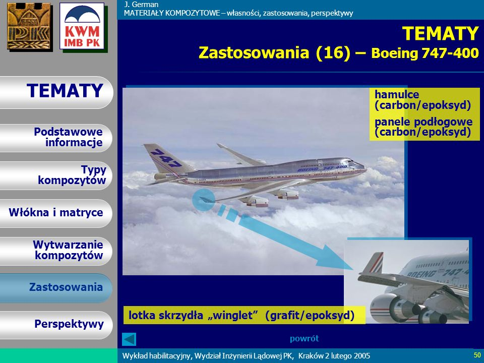 TEMATY Zastosowania (16) – Boeing 747-400