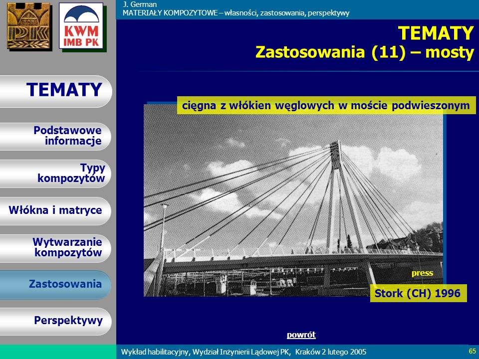 TEMATY Zastosowania (11) – mosty