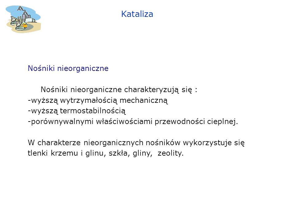 Kataliza Nośniki nieorganiczne