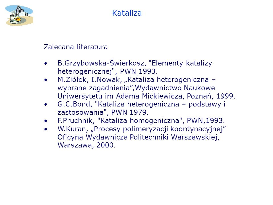Kataliza Zalecana literatura