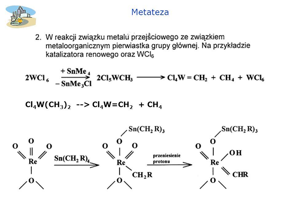 Metateza Cl4W(CH3)2 --> Cl4W=CH2 + CH4