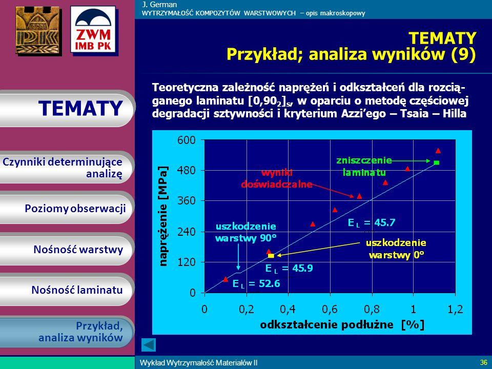 TEMATY Przykład; analiza wyników (9)