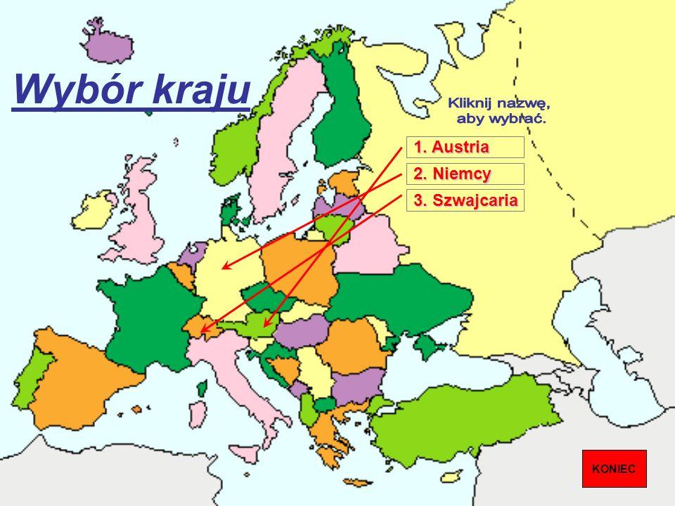 Wybór kraju Kliknij nazwę, aby wybrać. 1. Austria 2. Niemcy