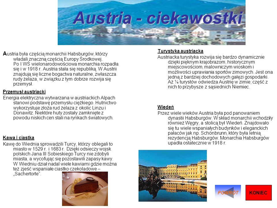 Austria - ciekawostki Turystyka austriacka.