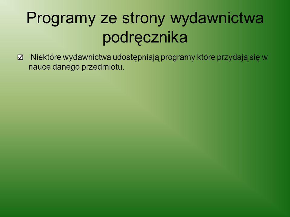 Programy ze strony wydawnictwa podręcznika