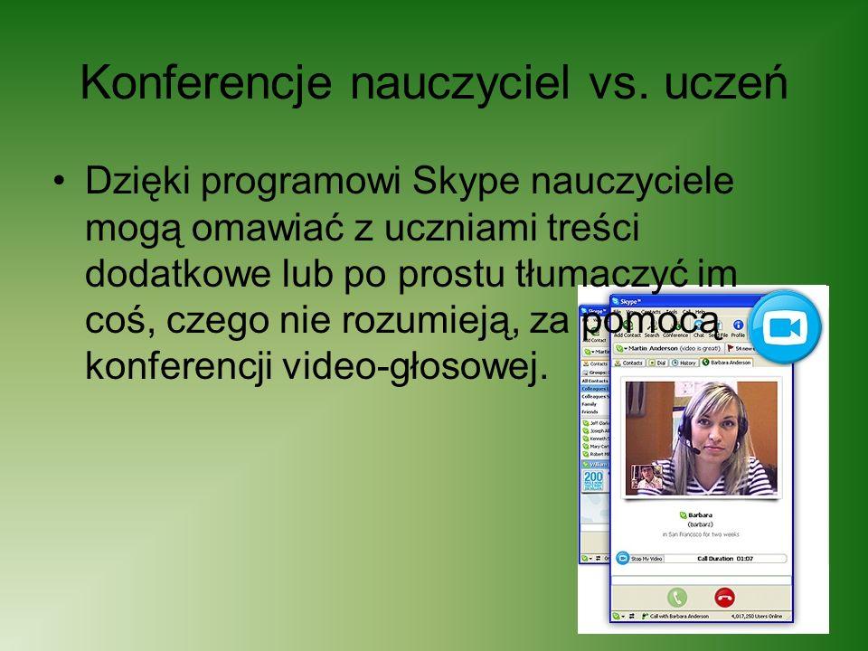 Konferencje nauczyciel vs. uczeń