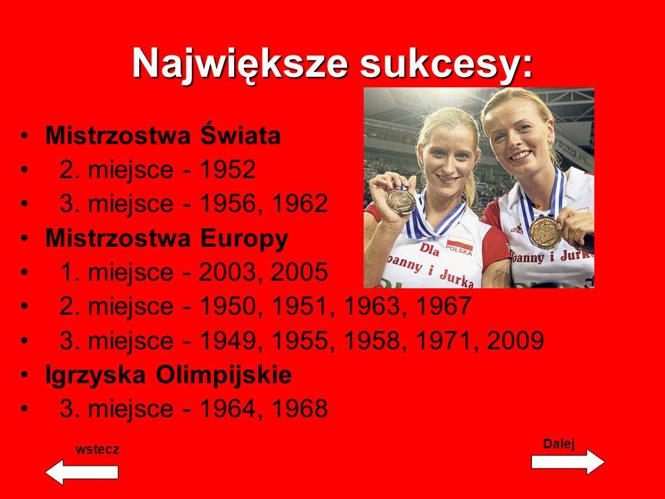 Największe sukcesy: Mistrzostwa Świata 2. miejsce - 1952