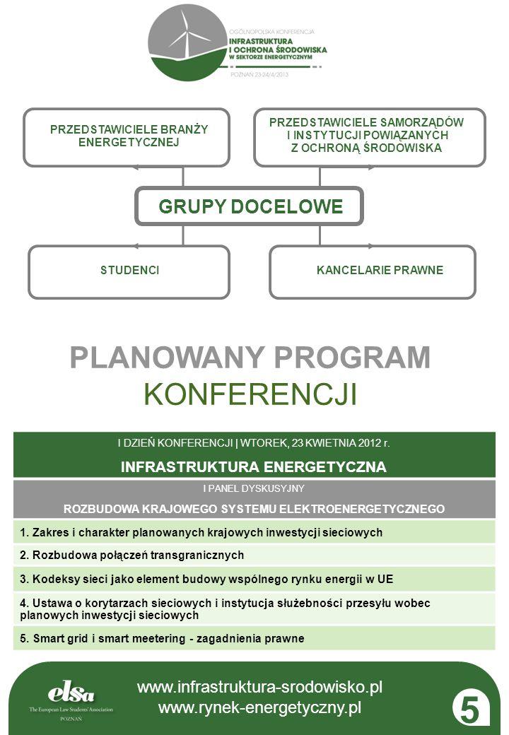 5 PLANOWANY PROGRAM KONFERENCJI GRUPY DOCELOWE 3