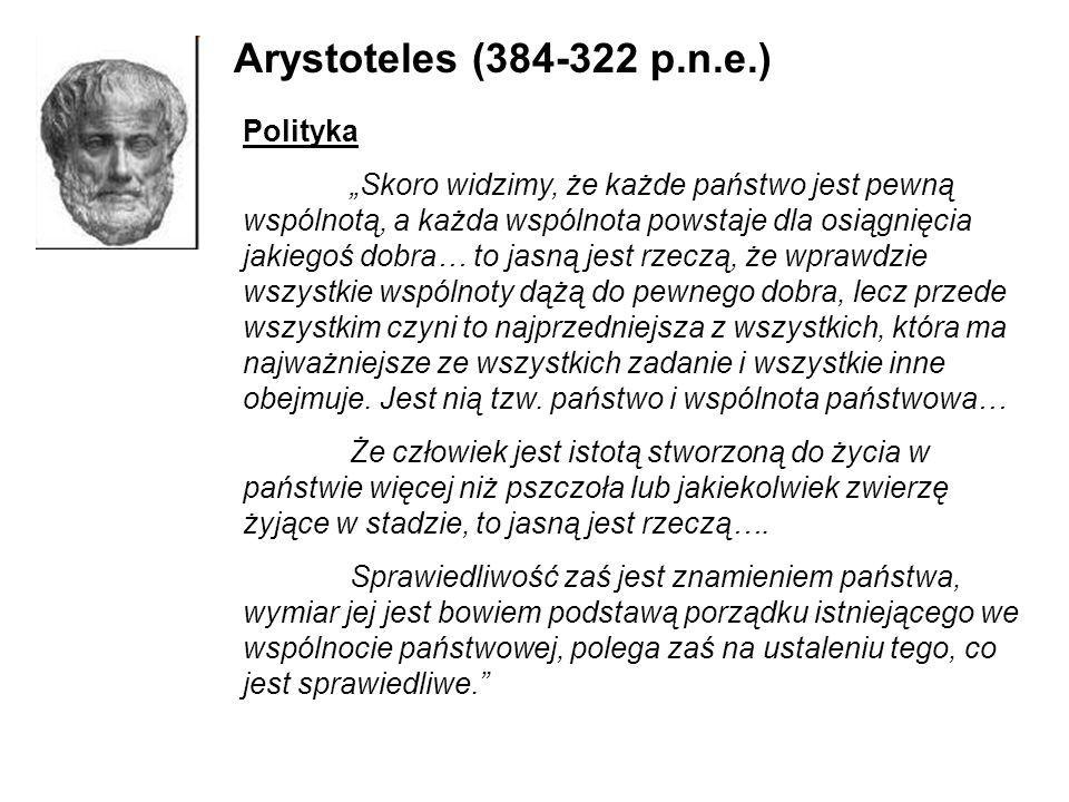 Arystoteles (384-322 p.n.e.) Polityka