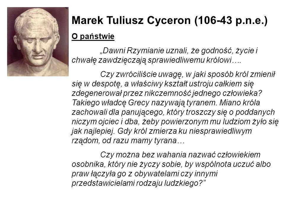 Marek Tuliusz Cyceron (106-43 p.n.e.)