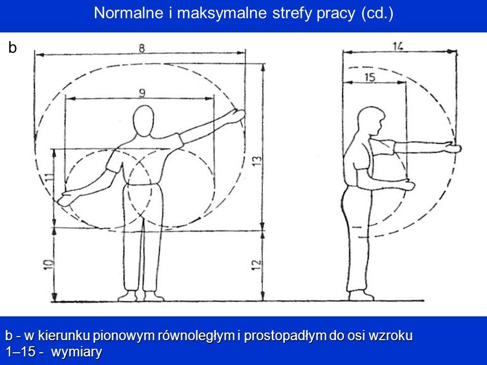 Normalne i maksymalne strefy pracy (cd.)