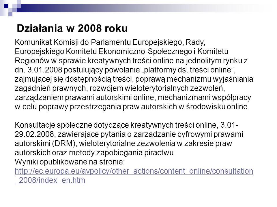 Działania w 2008 roku