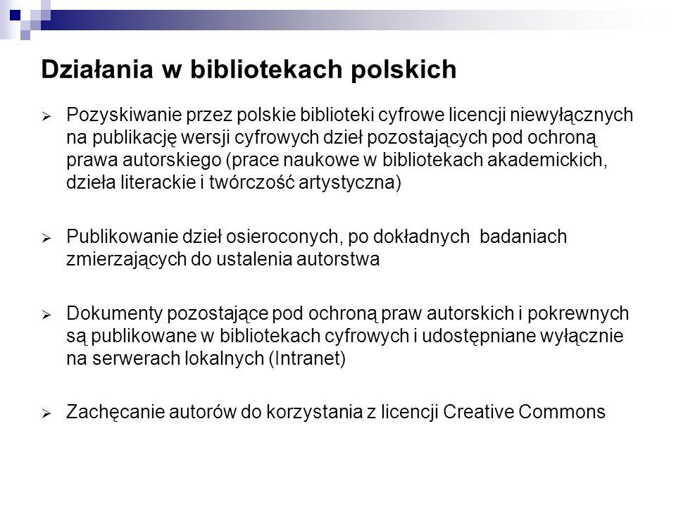 Działania w bibliotekach polskich
