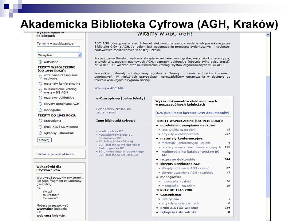 Akademicka Biblioteka Cyfrowa (AGH, Kraków)
