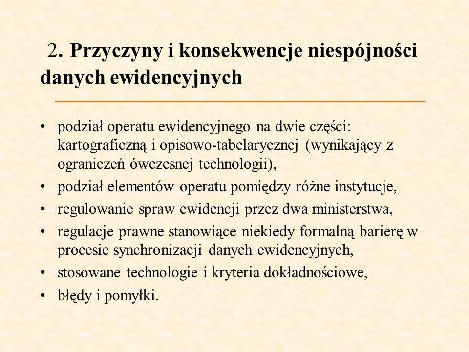 2. Przyczyny i konsekwencje niespójności danych ewidencyjnych