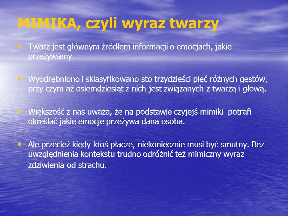 MIMIKA, czyli wyraz twarzy