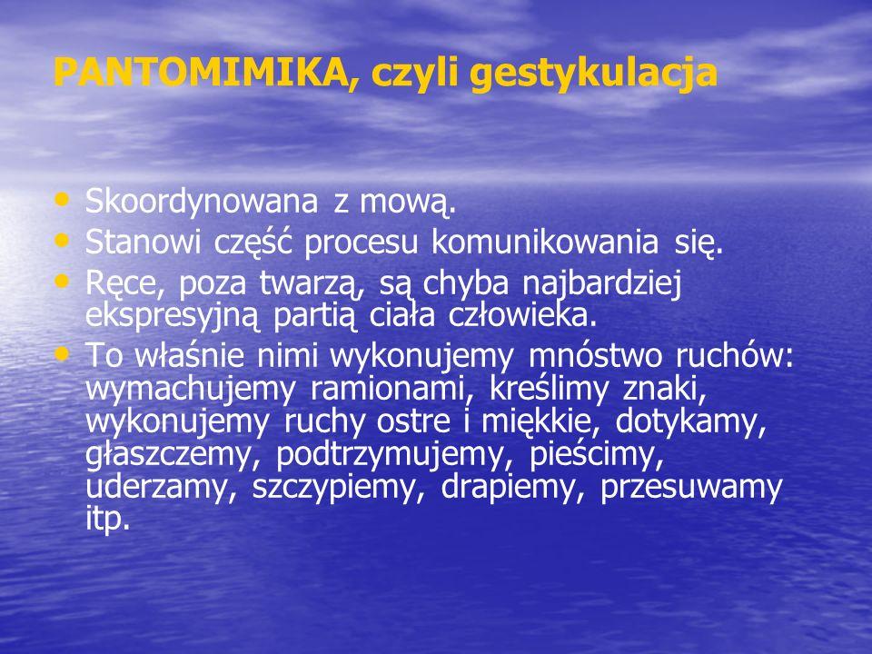 PANTOMIMIKA, czyli gestykulacja