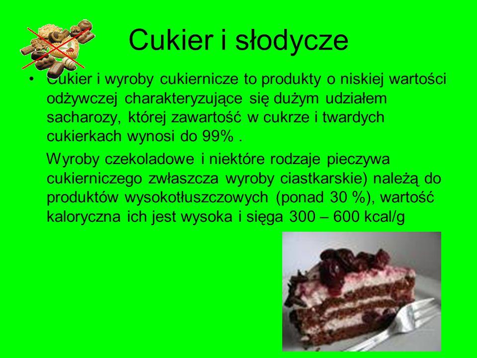 Cukier i słodycze