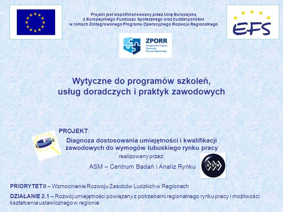Wytyczne do programów szkoleń, usług doradczych i praktyk zawodowych