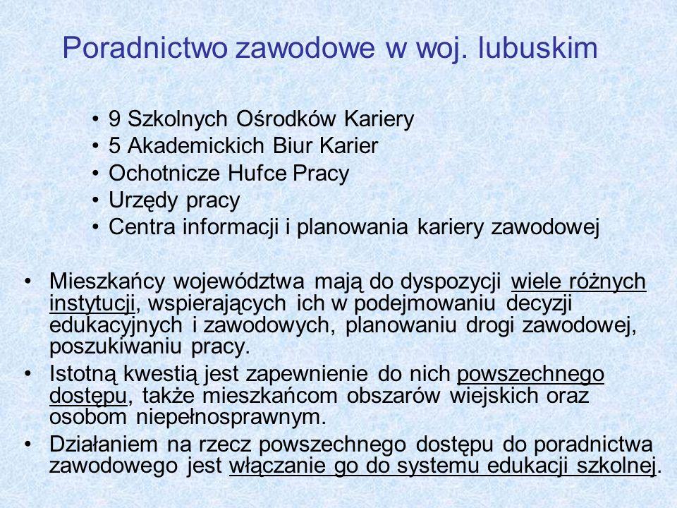 Poradnictwo zawodowe w woj. lubuskim