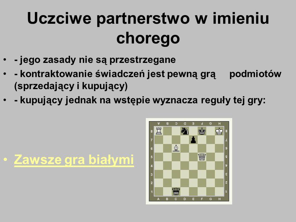 Uczciwe partnerstwo w imieniu chorego