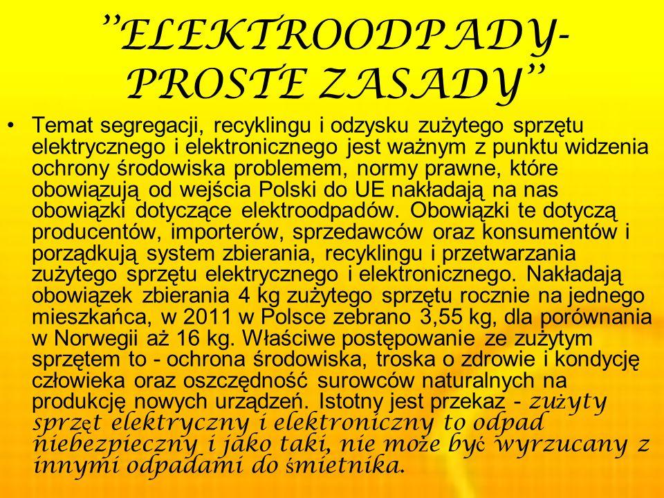 ''ELEKTROODPADY- PROSTE ZASADY''