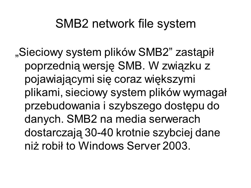 SMB2 network file system