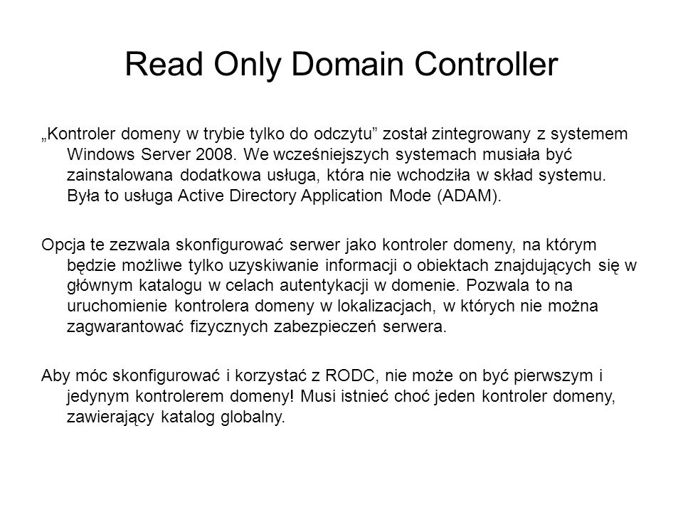 Read Only Domain Controller