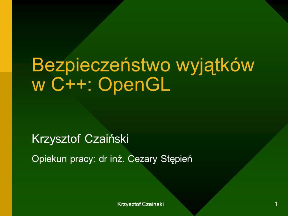 Bezpieczeństwo wyjątków w C++: OpenGL