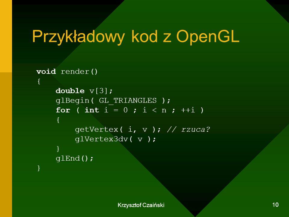 Przykładowy kod z OpenGL