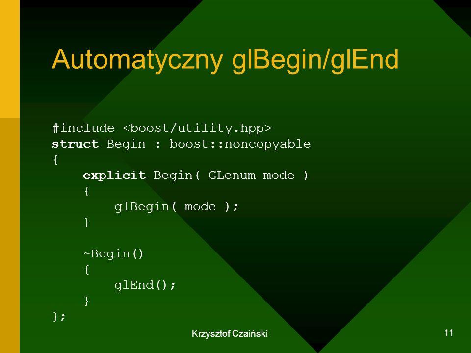 Automatyczny glBegin/glEnd