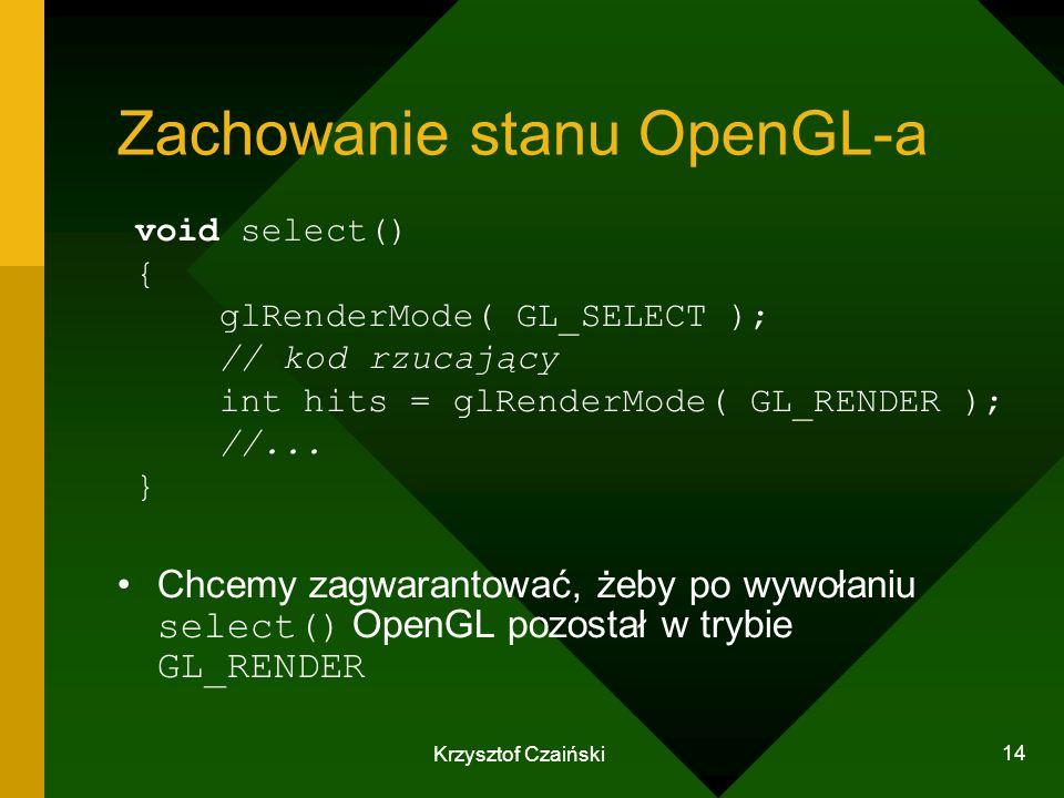 Zachowanie stanu OpenGL-a