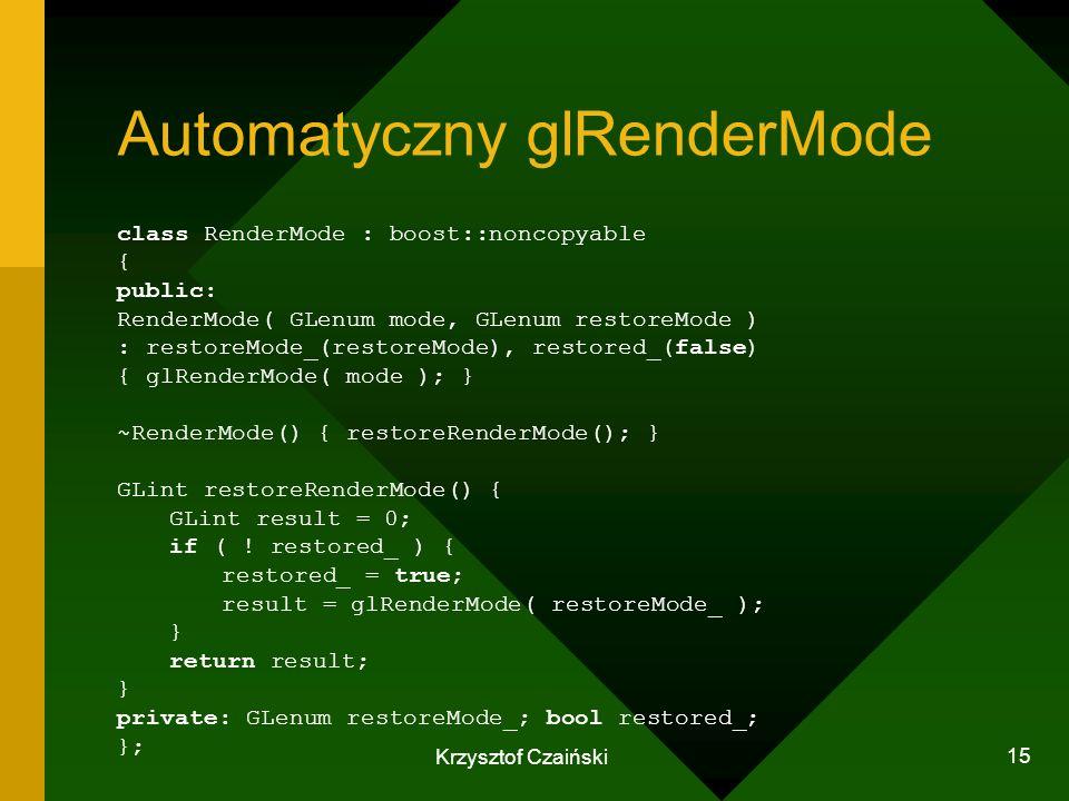 Automatyczny glRenderMode