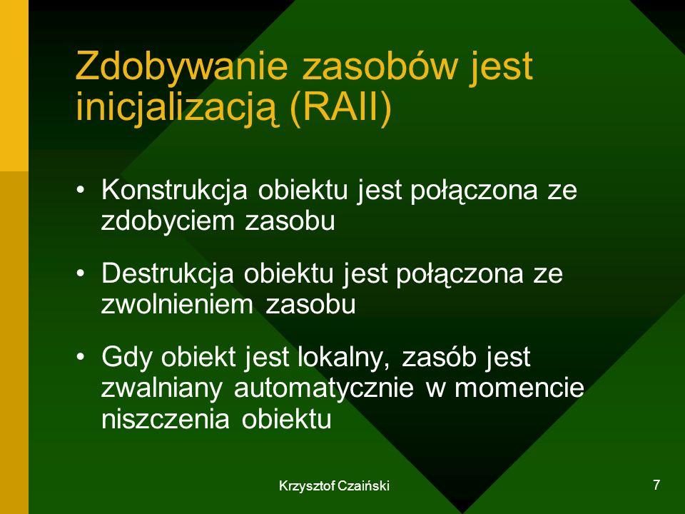 Zdobywanie zasobów jest inicjalizacją (RAII)