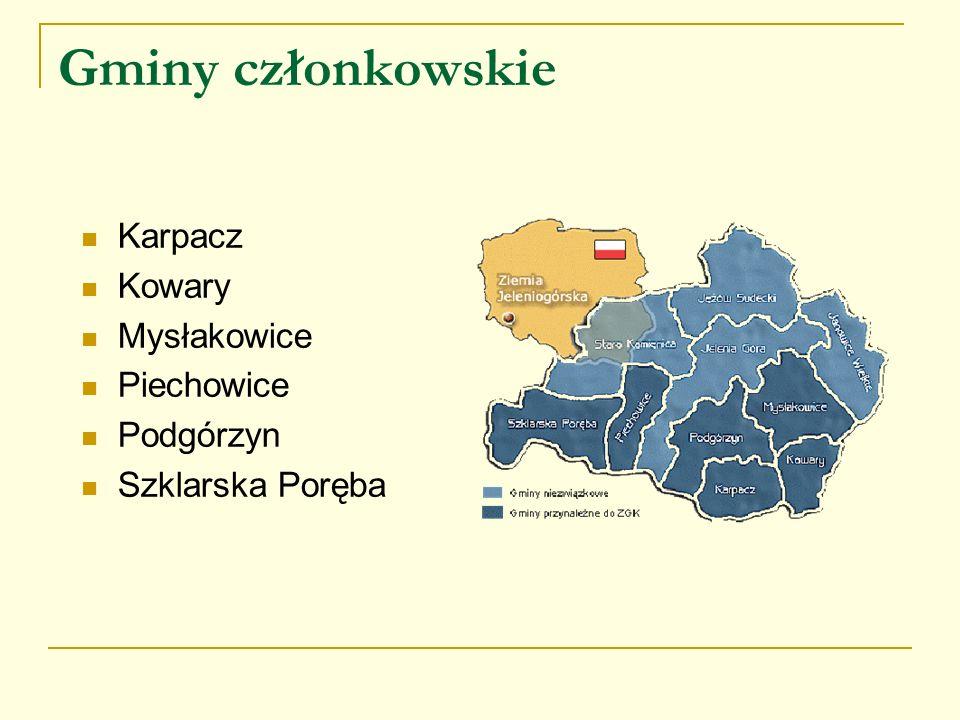 Gminy członkowskie Karpacz Kowary Mysłakowice Piechowice Podgórzyn