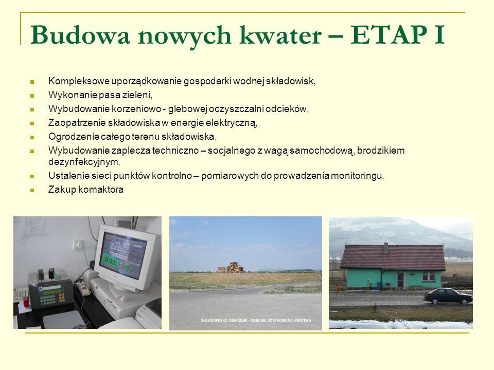 Budowa nowych kwater – ETAP I