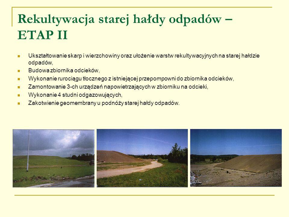 Rekultywacja starej hałdy odpadów – ETAP II