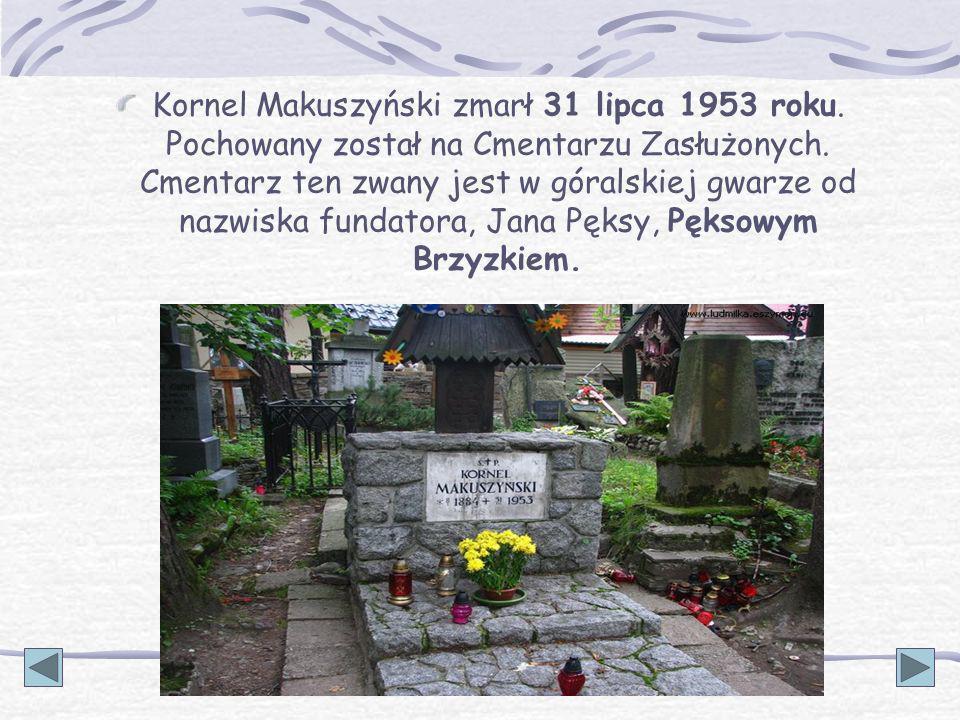 Kornel Makuszyński zmarł 31 lipca 1953 roku