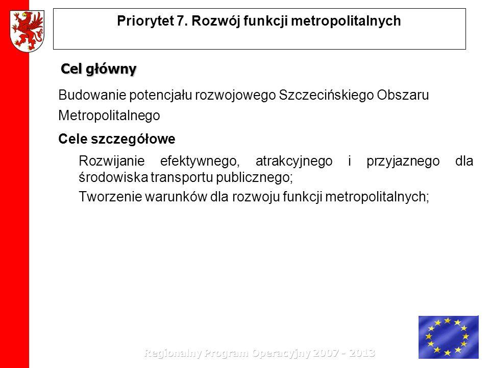 Priorytet 7. Rozwój funkcji metropolitalnych