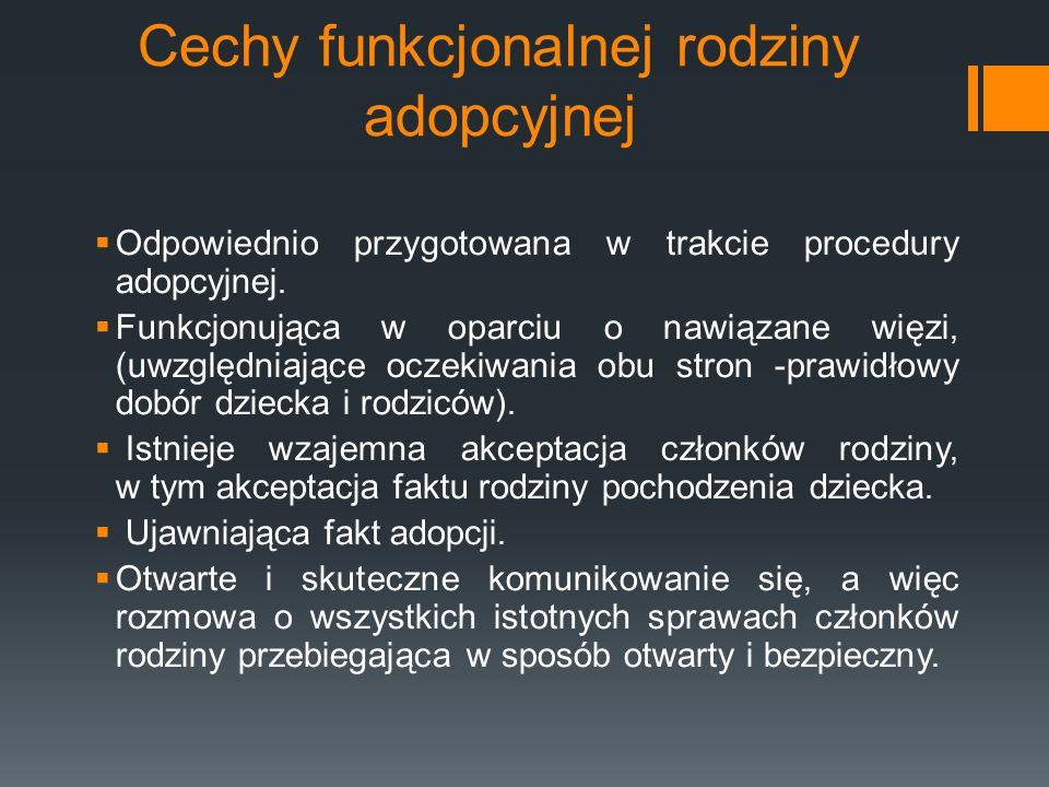 Cechy funkcjonalnej rodziny adopcyjnej