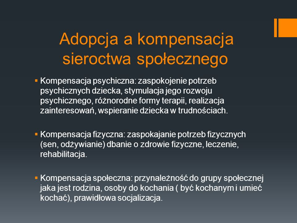 Adopcja a kompensacja sieroctwa społecznego