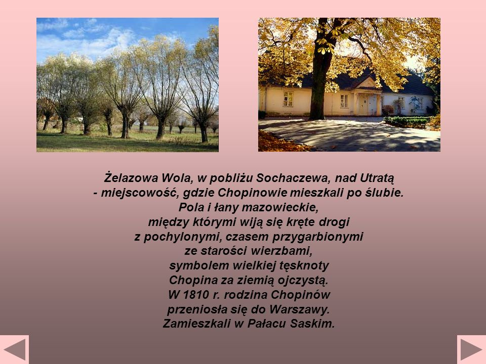 Żelazowa Wola, w pobliżu Sochaczewa, nad Utratą
