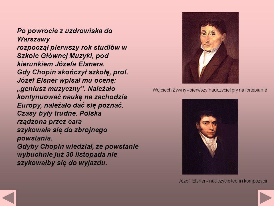 Józef Elsner - nauczycie teorii i kompozycji