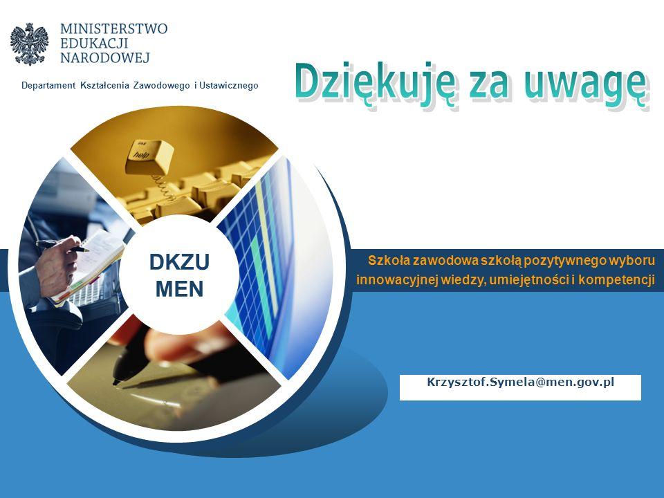 Dziękuję za uwagę Krzysztof.Symela@men.gov.pl