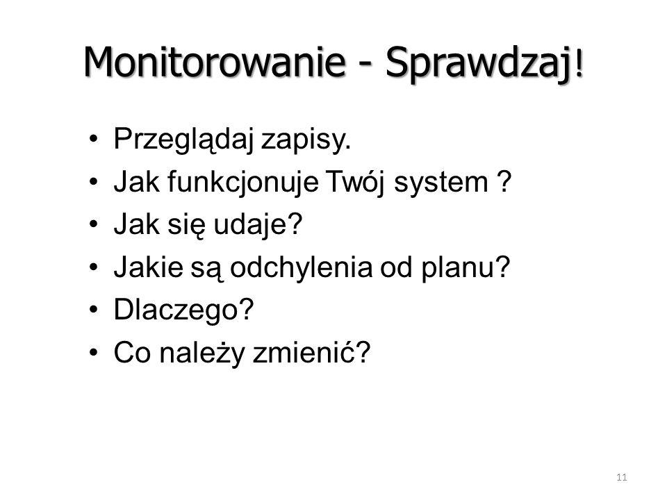 Monitorowanie - Sprawdzaj!