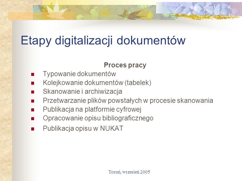 Etapy digitalizacji dokumentów
