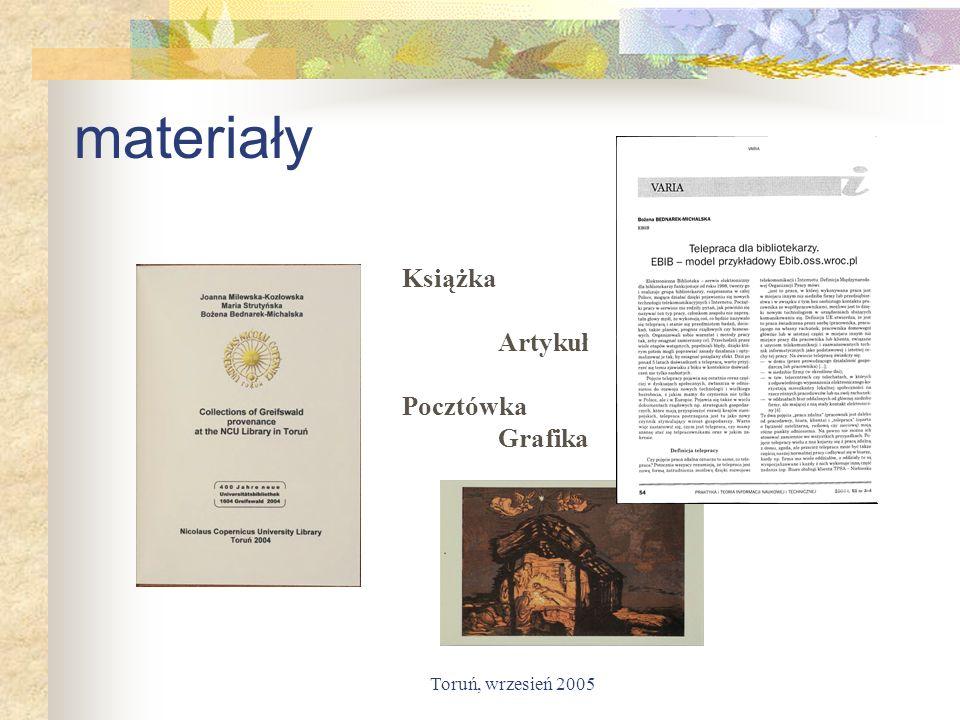 materiały Książka Artykuł Pocztówka Grafika Toruń, wrzesień 2005